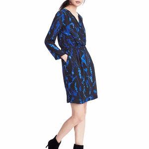 Banana Republic M 10 Blue dress Long sleeve Wrap